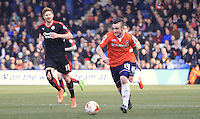 Luton Town striker Jack Marriott in action during the Sky Bet League 2 match between Luton Town and Crawley Town at Kenilworth Road, Luton, England on 12 March 2016. Photo by Liam Smith.