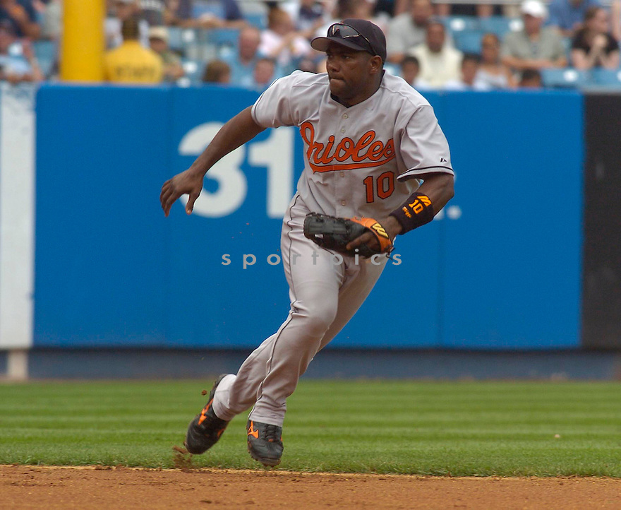 Miguel Tejada, of the Baltimore Orioles in action against the New York Yankees on July 5, 2005...Yankees win 12-3....Chris Bernacchi / SportPics