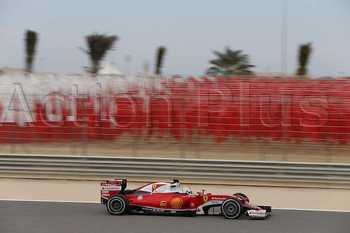 01.04.2016. Bahrain. FIA Formula One World Championship 2016, Grand Prix of Bahrain, Practise day.   5 Sebastian Vettel (GER, Scuderia Ferrari)
