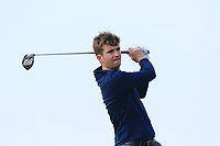 Sean Flanagan (Co. Sligo) on the 1st tee during Round 3 of The West of Ireland Open Championship in Co. Sligo Golf Club, Rosses Point, Sligo on Saturday 6th April 2019.<br /> Picture:  Thos Caffrey / www.golffile.ie
