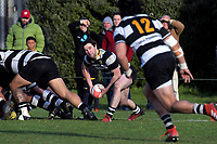 Action from the Wellington Swindale Shield premier club rugby match between Marist St Pats and Oriental Rongotai at Evan's Bay Park in Wellington, New Zealand on Saturday, 26 May 2018. Photo: Dave Lintott / lintottphoto.co.nz
