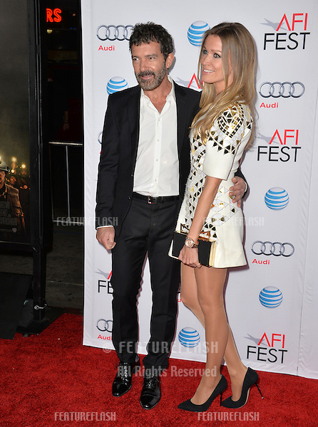 Actor Antonio Banderas &amp; girlfriend Nicole Kimpel at the premiere of his movie &quot;The 33&quot;, part of the AFI FEST 2015, at the TCL Chinese Theatre, Hollywood. <br /> November 9, 2015  Los Angeles, CA<br /> Picture: Paul Smith / Featureflash