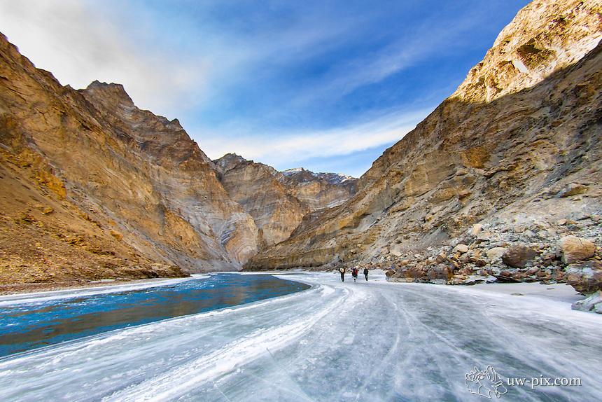 Chadar Trek on the frozen Zanskar river Leh India