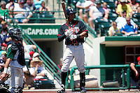 Lansing Lugnuts Kenny Wilson #22 during a game against the Fort Wayne Tincaps at Parkview Field on June 27, 2012 in Fort Wayne, Indiana.  Fort Wayne defeated Lansing 3-2.  (Mike Janes/Four Seam Images)