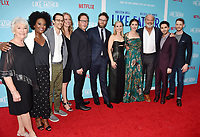 HOLLYWOOD, CA - JULY 31: (L-R) Mary Looram, Blaire Brooks, Matthew Levin, Amanda Bowers, Anders Bard, Seth Rogen, Kristen Bell, Lauren Miller Rogen, Kelsey Grammer, Paul W. Downs and Zach Appleman arrive at the Premiere Of Netflix's 'Like Father' at ArcLight Hollywood on July 31, 2018 in Hollywood, California.<br /> CAP/ROT/TM<br /> &copy;TM/ROT/Capital Pictures