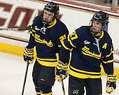 Clayton Jardine (Merrimack - 21), Justin Mansfield (Merrimack - 27) - The Boston College Eagles defeated the visiting Merrimack College Warriors 2-1 on Wednesday, January 21, 2015, at Kelley Rink in Conte Forum in Chestnut Hill, Massachusetts.