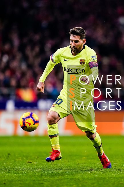 Lionel Messi of FC Barcelona in action during the La Liga 2018-19 match between Atletico Madrid and FC Barcelona at Wanda Metropolitano on November 24 2018 in Madrid, Spain. Photo by Diego Souto / Power Sport Images