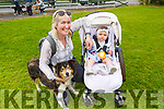 Theresa Grimes, Alayia O'Mahoney and Pep the dog from Listowel at the dog show in Ballybeggan on Saturday