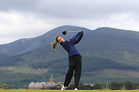 Blanca Fernandez (ESP) on the 2nd tee during Round 1 of the Women's Amateur Championship at Royal County Down Golf Club in Newcastle Co. Down on Tuesday 11th June 2019.<br />
