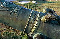 Cuba , Kanone an der Festung Castillo El Morro (San Pedro de la Roca)  in Santiago de Cuba