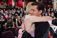 Saoirse Ronan, Oscar&reg; nominee for Best Actress in a Leading Role, and Tom Holland embrace at The 90th Oscars&reg; at the Dolby&reg; Theatre in Hollywood, CA on Sunday, March 4, 2018.<br /> *Editorial Use Only*<br /> CAP/PLF/AMPAS<br /> Supplied by Capital Pictures