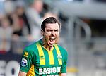 Nederland, Den Haag, 27 september 2015<br /> Eredivisie<br /> Seizoen 2015-2016<br /> ADO Den Haag-Excelsior (3-3)<br /> Mike Havenaar van ADO Den Haag schreeuwt het uit van vreugde nadat hij een doelpunt heeft gemaakt, 1-0