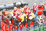 RESCUE: Members of the Ballinskelligs Inshore Rescue Unit with their rescue boat in Ballinskelligs on Thursday last..Front Row L/r. Declan Kirby, Paddy Casry..Back L/r. John Fitzgerald, Neilie Fitzpatrick and Brendan Corkery.   Copyright Kerry's Eye 2008