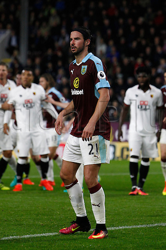 26.09.2016. Turf Moor, Burnley, England. Premier League Football. Burnley versus Watford. Burnley midfielder George Boyd.