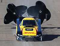 Feb 24, 2018; Chandler, AZ, USA; NHRA funny car driver J.R. Todd during qualifying for the Arizona Nationals at Wild Horse Pass Motorsports Park. Mandatory Credit: Mark J. Rebilas-USA TODAY Sports