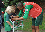26.07.2011, Trainingsgelaende Werder Bremen, Bremen, GER, 1.FBL, Training Werder Bremen, im Bild Naldo (Bremen #4) gibt Kindern Autogramme..// during training session from Werder Bremen on 2011/07/26,  Trainingsgelaende Werder Bremen, Bremen, Germany..EXPA Pictures © 2011, PhotoCredit: EXPA/ nph/  Frisch       ****** out of GER / CRO  / BEL ******