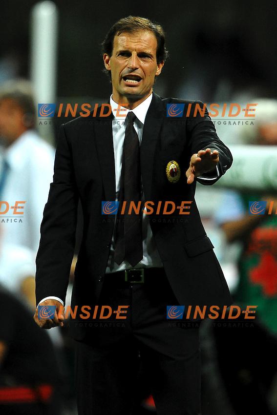 "Massimiliano ALLEGRI allenatore Milan.Milano 21/8/2011 Stadio ""Giuseppe Meazza San Siro"".Trofeo ""Luigi Berlusconi"".Calcio Football - Milan Vs Juventus .Foto Insidefoto Andrea Staccioli"