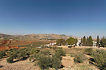 Samaria, a view of Michmetat valley as seen from Palestinian village Awarta