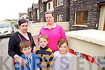 Irene and James McGuckin and Adam Aoife and Kate Clifford who's houses in Cathair Lakes, Killorglin were struck by lightning on Friday evening.