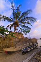 Dugout canoes, Kuna Indian village on Corbisky Island, San Blas Islands (Kuna Yala), Caribbean Sea, Panama