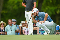 Tyrrell Hatton (ENG) lines up his putt on 2 during round 4 of the 2019 Charles Schwab Challenge, Colonial Country Club, Ft. Worth, Texas,  USA. 5/26/2019.<br /> Picture: Golffile | Ken Murray<br /> <br /> All photo usage must carry mandatory copyright credit (© Golffile | Ken Murray)