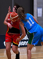 Action from the National Under-23 Basketball Championships Tournament women's semifinal between Waikato and Waikato Country at Te Rauparaha Arena in Porirua, New Zealand on Friday, 10 August 2018. Photo: Dave Lintott / lintottphoto.co.nz