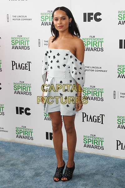 SANTA MONICA, CA - MARCH 1: Zo&radic;?&not;&acute; Kravitz attending the 2014 Film Independent Spirit Awards in Santa Monica, California on March 1st, 2014. Photo Credit: RTNUPA/MediaPunch<br /> CAP/MPI/RTNUPA<br /> &copy;RTNUPA/MediaPunch/Capital Pictures