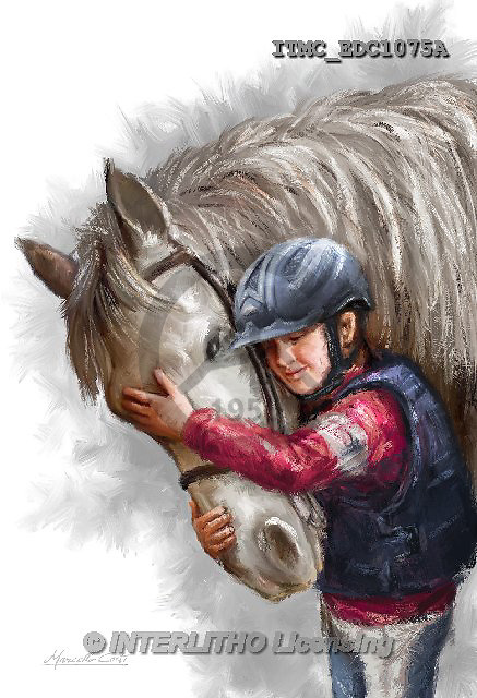 Marcello, REALISTIC ANIMALS, REALISTISCHE TIERE, ANIMALES REALISTICOS, paintings+++++,ITMCEDC1075A,#A# ,horse,horsemen,rider