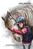 Marcello, REALISTIC ANIMALS, REALISTISCHE TIERE, ANIMALES REALISTICOS, paintings+++++,ITMCEDC1075A,#A# ,horse,horsemen,rider