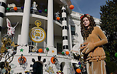 Performers and Halloween decorations are seen at the South Portico of the White House in Washington, DC before President Barack Obama and the First Lady will welcome local children and children of military families to trick-or-treat on October 31, 2016. <br /> Credit: Olivier Douliery / Pool via CNP