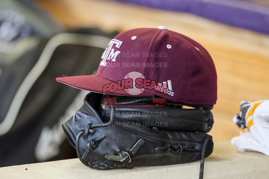 Texas A&M Aggies hat on April 24, 2015 at Alex Box Stadium in Baton Rouge, Louisiana. LSU defeated Texas A&M 9-6. (Andrew Woolley/Four Seam Images)