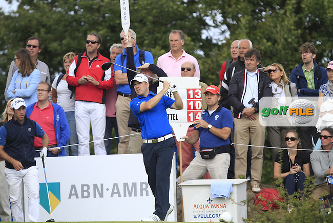 Richie Ramsay (SCO) on the 7th tee during Round 4 of the KLM Open at Kennemer Golf &amp; Country Club on Sunday 14th September 2014.<br /> Picture:  Thos Caffrey / www.golffile.ie