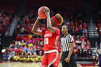College Park, MD - March 23, 2019: Radford Highlanders guard Destinee Walker (10) in action during game between Radford and Maryland at  Xfinity Center in College Park, MD.  (Photo by Elliott Brown/Media Images International)