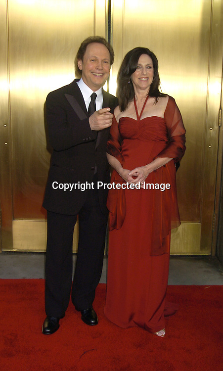 Billy Crystal and wife Janice ..arriving at the 59th Annual Tony Awards on June 5, 2005 at ..Radio City Music Hall. ..Photo by Robin Platzer, Twin Images