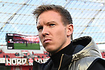 03.11.2018, BayArena, Leverkusen, GER, 1. FBL,  Bayer 04 Leverkusen vs. TSV 1899 Hoffenheim,<br />  <br /> DFL regulations prohibit any use of photographs as image sequences and/or quasi-video<br /> <br /> im Bild / picture shows: <br /> Julian Nagelsmann Cheftrainer (Hoffenheim),<br /> Foto &copy; nordphoto / Meuter