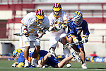 Paul Coleman (UCSB #32) AND Keena Tabusa (UCSB #3) and Corey Janoff (USC #5) and Richie DeBeikes (USC #2)
