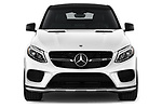 Car photography straight front view of a 2019 Mercedes Benz GLE Coupe AMG GLE43 5 Door SUV