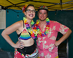 Liz and Matt during the Pride Rainbow Crawl in downtown Reno on Friday night, July 27, 2018.