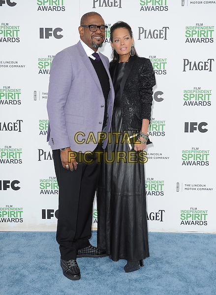 SANTA MONICA, CA, MARCH 01: Forest Whitaker and Keisha Nash Whitaker at The 2014 Film Independent Spirit Awards held at Santa Monica Beach in Santa Monica, California, USA on March 1st, 2014.                                                                              <br /> CAP/DVS<br /> &copy;Debbie VanStory/Capital Pictures
