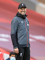 5th July 2020, Anfield, Liverpool, England;  Liverpools manager Jurgen Klopp reacts during the Premier League match between Liverpool and Aston Villa at Anfield in Liverpool