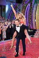 Brian Conley &amp; Gemma Atkinson at the launch of the new series of &quot;Strictly Come Dancing&quot; at New Broadcasting House, London, UK. <br /> 28 August  2017<br /> Picture: Steve Vas/Featureflash/SilverHub 0208 004 5359 sales@silverhubmedia.com