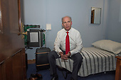 "United States Representative Dan Donovan (Republican of New York) sits on the bed in his ""bedroom"" within his Capitol Hill office in Washington, DC on Thursday, March 8, 2018. <br /> Credit: Ron Sachs / CNP<br /> (RESTRICTION: NO New York or New Jersey Newspapers or newspapers within a 75 mile radius of New York City)"