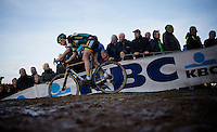 Ellen Van Loy (BEL/Telenet-Fidea) leading the race in the 2nd lap<br /> <br /> UCI Cyclocross World Cup Heusden-Zolder 2015