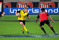 Taine Plumtree in action during the rugby match between the Hurricanes under-18s and Crusaders Knights at Westpac Stadium in Wellington, New Zealand on Saturday, 15 July 2017. Photo: Dave Lintott / lintottphoto.co.nz