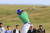 Anirban Lahiri (IND) tees off the 15th tee during Thursday's Round 1 of the 145th Open Championship held at Royal Troon Golf Club, Troon, Ayreshire, Scotland. 14th July 2016.<br /> Picture: Eoin Clarke | Golffile<br /> <br /> <br /> All photos usage must carry mandatory copyright credit (&copy; Golffile | Eoin Clarke)