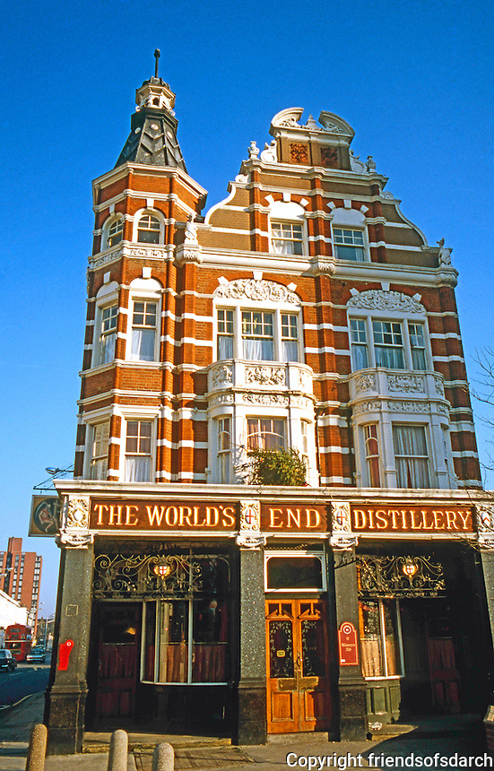 London: The World's End Pub. King's Road, Chelsea, Pulham.