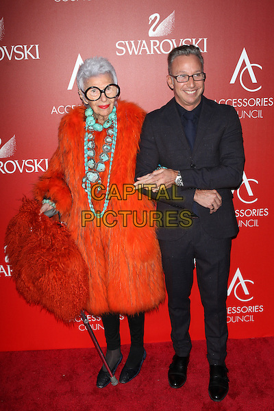 PANEW YORK, NY - NOVEMBER 2: Iris Apfel  attends the Accessories Council 2015 ACE Awards at Cipriani 42nd Street  on November 2, 2015 in New York City.  <br /> CAP/MPI99<br /> &copy;MPI99/Capital Pictures