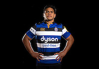 Ben Tapuai poses for a portrait at a Bath Rugby photocall. Bath Rugby Photocall on November 22, 2016 at Farleigh House in Bath, England. Photo by: Rogan Thomson / JMP / Onside Images