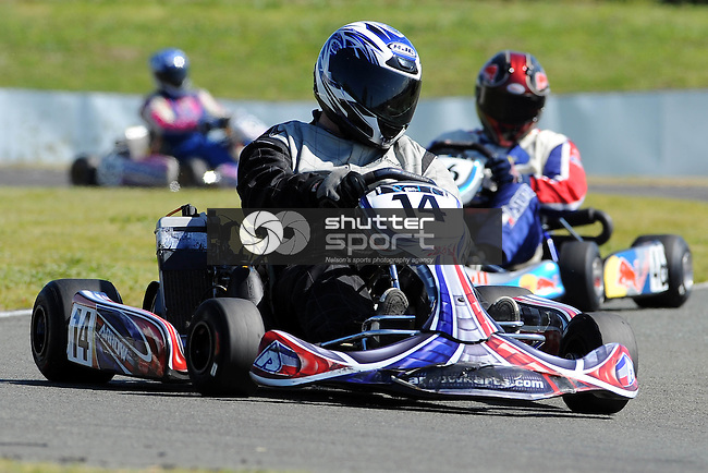 Mark Ahlfeld during Karting at the 2011 South Island Masters Games, Kart track, Redwood Valley, Richmond, Nelson, New Zealand. Tuesday 18 October 2011. Photo: Chris Symes/www.shuttersport.co.nz