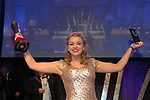 Ciara Mackey, Newcastle Glees Musical Society in County Down who won the Best Female Singer/ Gilbert Section for her role as Janet Van Der Graff in The Drowsy Chaperone at the Association of Irish Musical Societies (AIMS) annual awards in the INEC, Killarney at the weekend. <br /> Photo Don MacMonagle<br /> <br /> repro free photo AIMS<br /> Further info: Kate Furlong PRO kate.furlong84@gmail.com